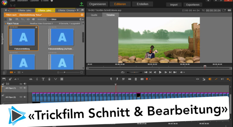 Trickfilm Animation Bearbeitung Stop Motion Pinnacle Studio Deutsch Video Tutorial
