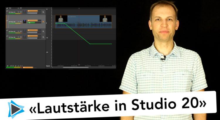 Neu in Pinnacle Studio 20 Deutsch Lautstärke ändern Volume Keyframing Video Tutorial