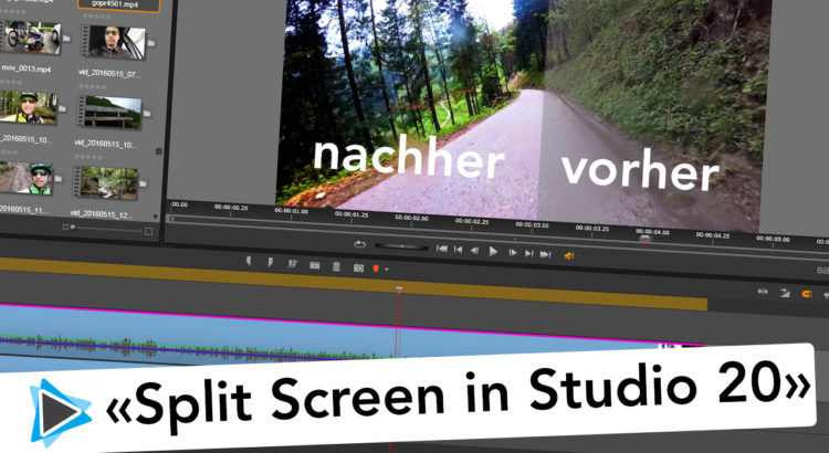 Pinnacle Studio 20 Deutsch Split Screen vorher nachher Video vergleich Zuschneiden Video Tutorial