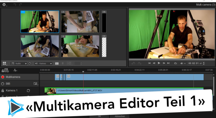 Multikamera Editor Pinnacle Studio 20 Deutsch Übersicht Teil #1 Video Tutorial