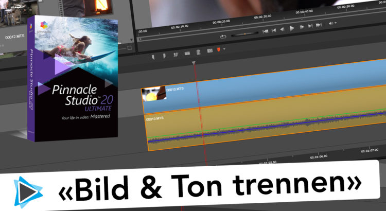 Pinnacle Studio 20 Bild und Ton bzw Video und Audio trennen oder splitten Video Tutorial
