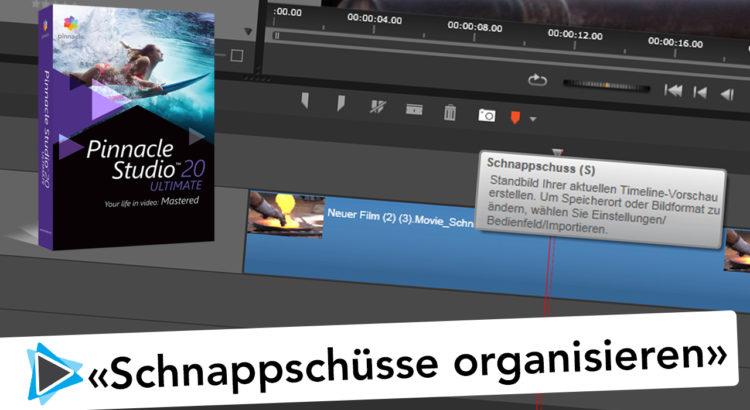 Pinnacle Studio Deutsch Schnappschuss und Standbild Speicherort korrigieren Video Tutorial