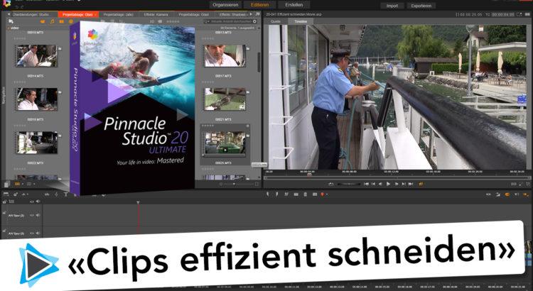 Effizientes schneiden mit der 10 Sekunden Regel Pinnacle Studio 20 Deutsch Rohschnitt Video Tutorial