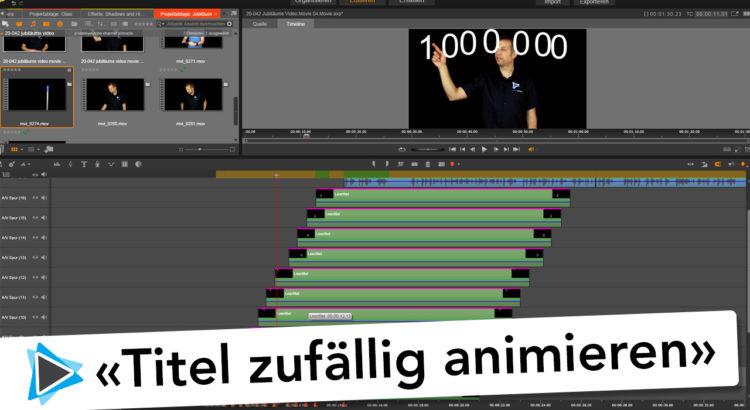 Titel animieren und zufällig bewegen mit der Bewegungsverfolgung in Pinnacle Studio 20 Deutsch Video