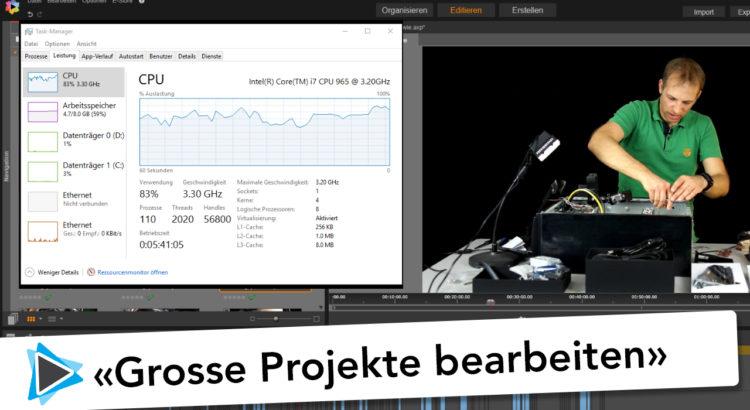 Bearbeiten von grossen und langen Projekten in Pinnacle Studio Deutsch Video Tutorial