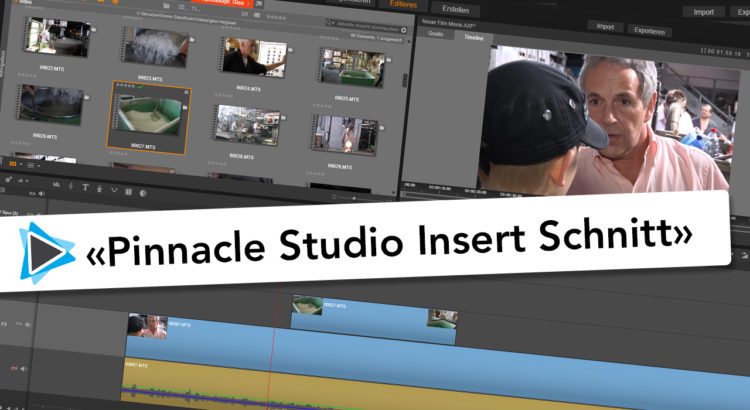 Insert Schnitt und Overlay mit Pinnacle Studio 20 Deutsch Video Tutorial