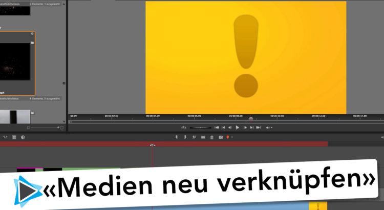 Medien neu Verknüpfen und Projekt wiederherstellen Pinnacle Studio 20 Deutsch Video Tutorial