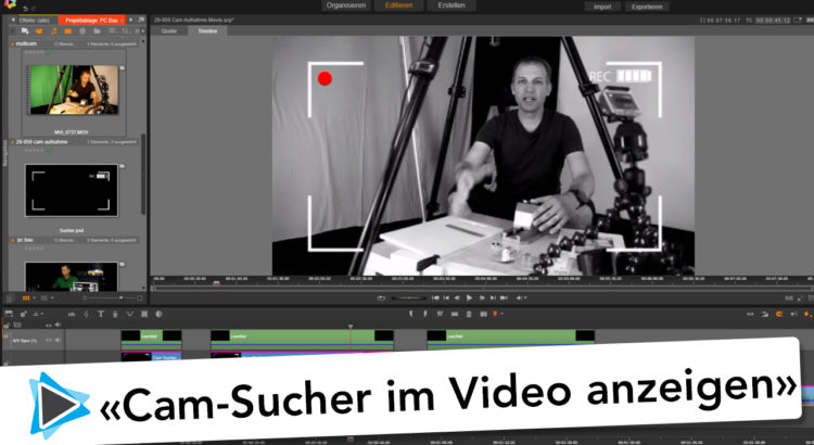 Pinnacle Studio Deutsch Kamera Sucher erstellen mit Adobe Photoshop Elements Video Tutorial