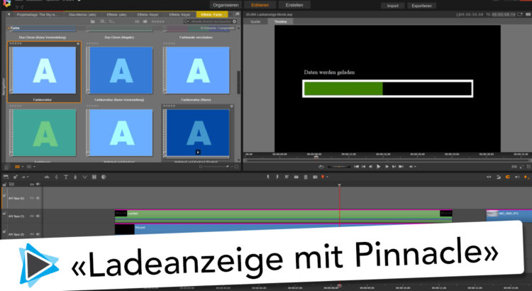 Ladeanzeige und Statusbalken mit Pinnacle Studio 20 Deutsch Video Tutorial