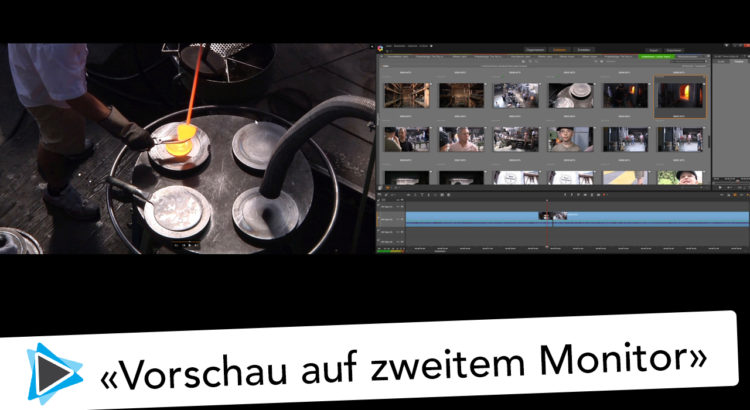Externe Vorschau mit Pinnacle Studio 20 Video Tutorial Deutsch auf externem Monitor
