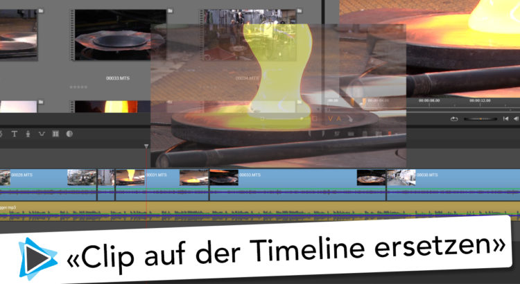Clip ersetzen auf der Timeline mit Pinnacle Studio 20 Deutsch Video Tutorial