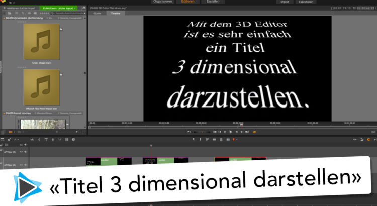 3D Editor Titel animation Pinnacle Studio 20 Deutsch Video Tutorial Star Wars Titel